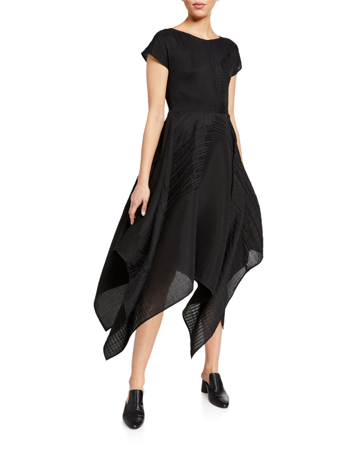 Co Short-Sleeve Asymmetric Dress