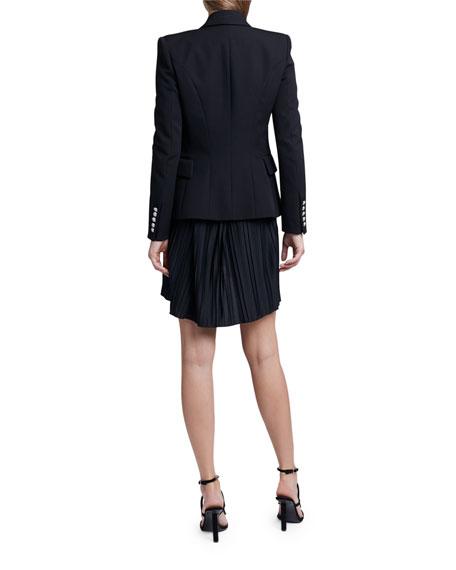 Balmain Embroidered-Peak Lapel Blazer Jacket
