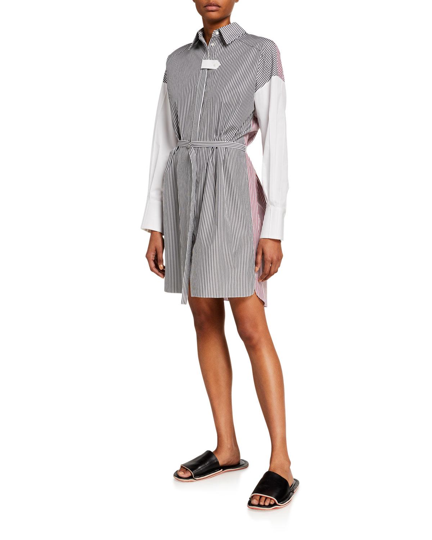 Partow Helena Pinstriped Shirtdress
