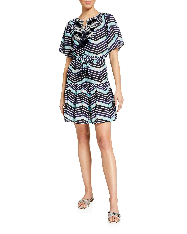 Figue Bria Striped Cotton Dress