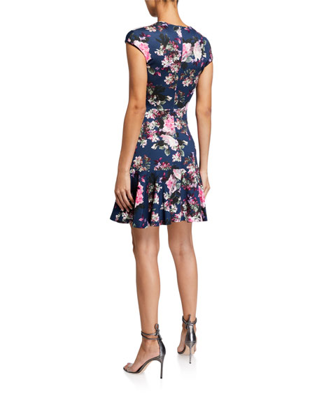 Image 2 of 2: Erdem Darlina Cap-Sleeve Dress
