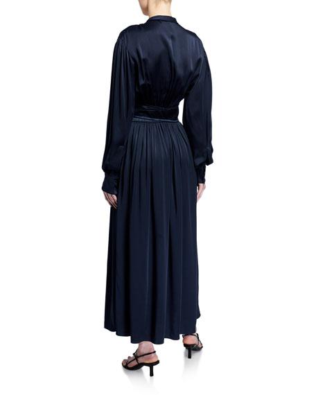 Sies Marjan Faye Crepe-Back Satin Full Dress