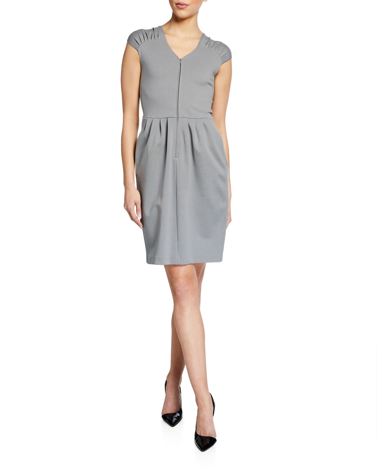 Emporio Armani Cap-Sleeve Milano Jersey Dress