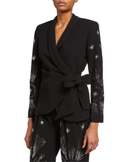 Image 1 of 2: Libertine Star-Sleeve Wrap Jacket