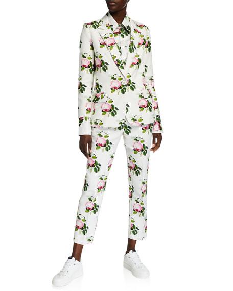 Libertine English Garden Cotton-Linen Crop Pants