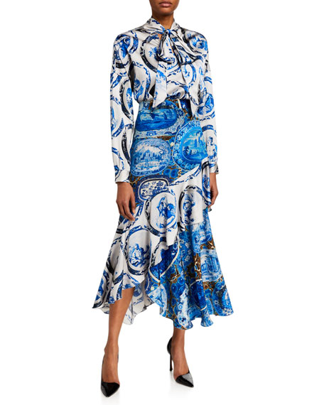 Image 3 of 3: Libertine Mixed Print Asymmetrical Flounce Skirt