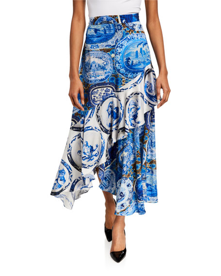 Image 1 of 3: Libertine Mixed Print Asymmetrical Flounce Skirt