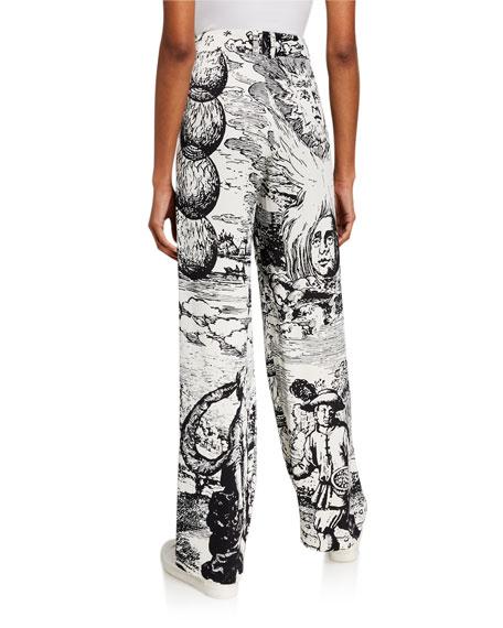 Libertine Modern Toile Pleated Pants