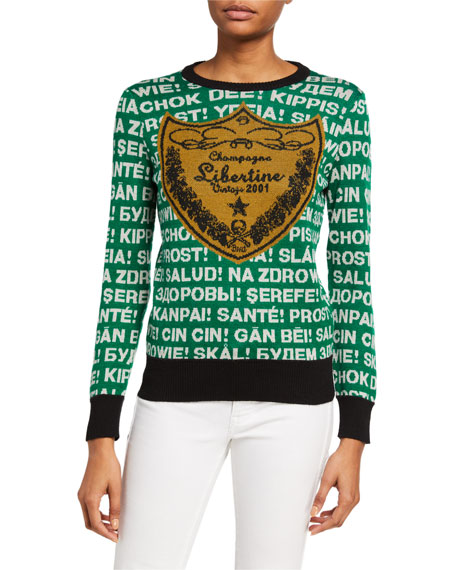 Libertine Cashmere Logo Crest Sweater