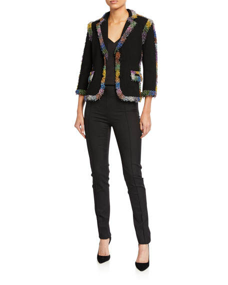 Libertine Electric Dreams Beaded Crop Blazer