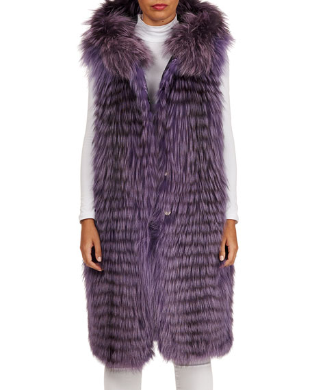 Gianfranco Ferre Reversible Layered Fox-Fur Vest