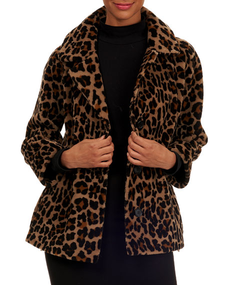 Image 1 of 5: Michael Kors Collection Reversible Shearling Jacket