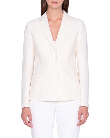 Akris Textured Pique Knit Jacket