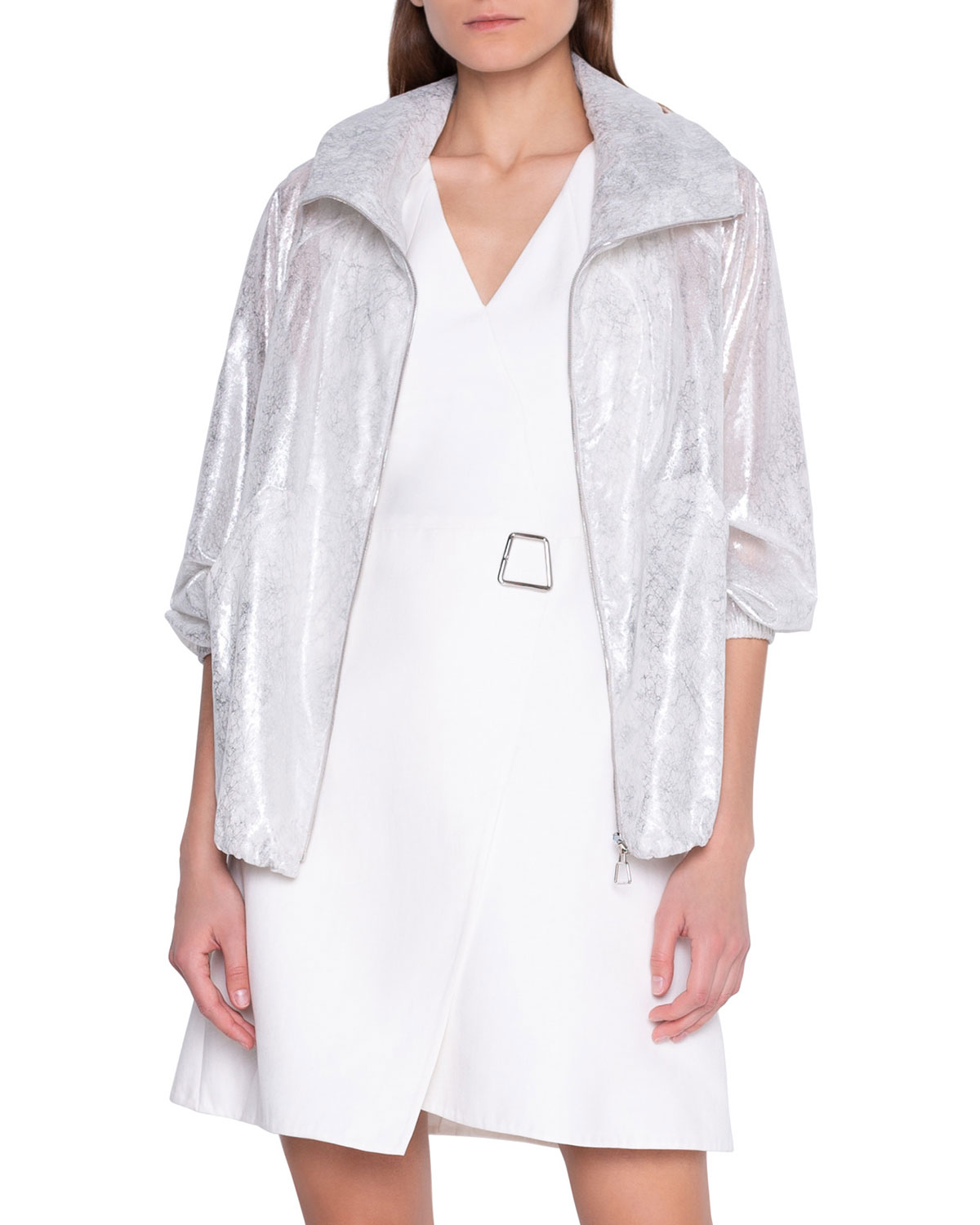 Akris Sheer Cracked-Wind Resistant Jacket and Matching Items & Matching Items