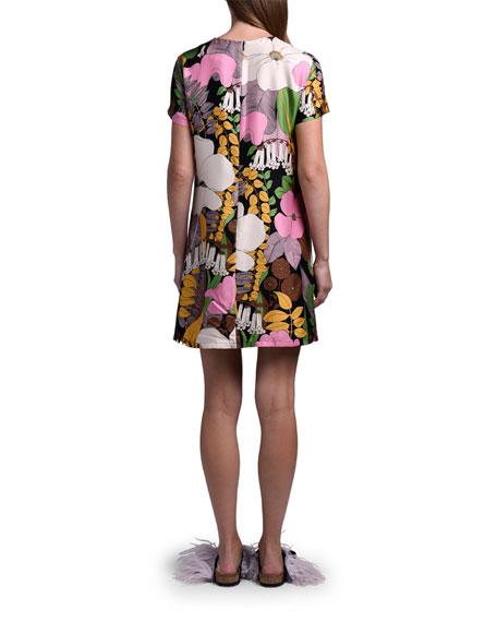 Double J Floral Mini Swing Dress