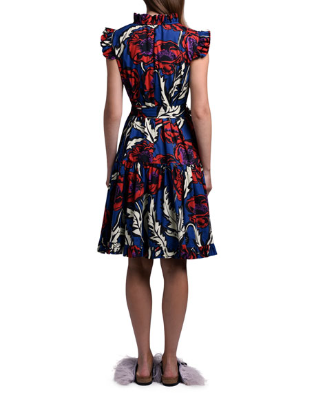 Double J Floral Short And Sassy Tiered Ruffle Dress