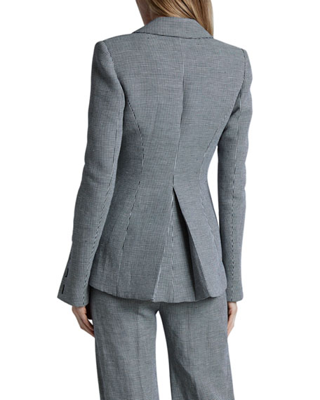 Altuzarra Longview Checked Linen Blazer Jacket