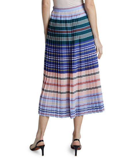 Altuzarra Halyard Striped Pleated Skirt