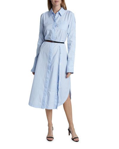 Aster Cotton Long-Sleeve Dress