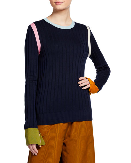 Image 2 of 3: Ribbed Silk Sweater