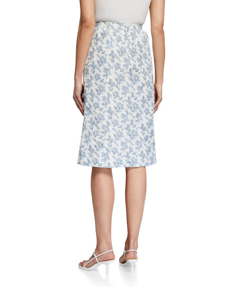 Brock Collection Ladies Floral Midi Skirt
