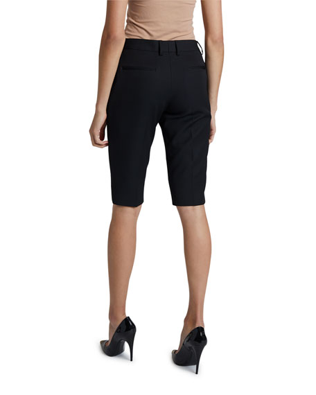 Saint Laurent Grain de Poudre Bermuda Shorts