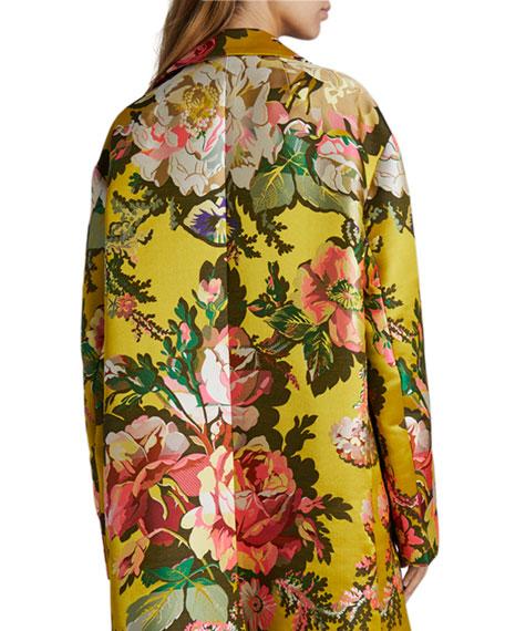 Dries Van Noten Ruberta Tris 19th Century Floral Jacquard Coat