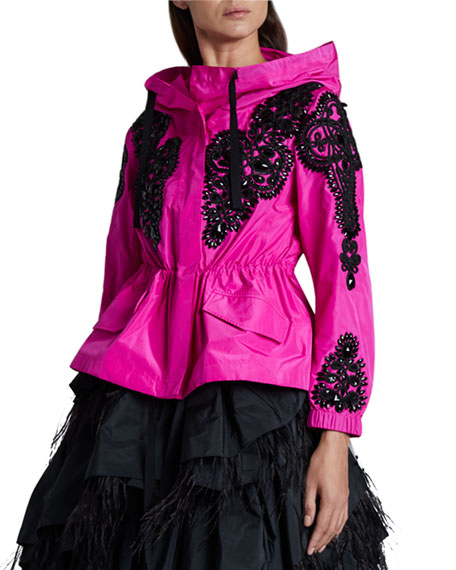 Image 1 of 2: Embellished Zip-Front Jacket