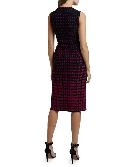 ALAIA Polka-Dot Sleeveless Scoop-Neck Dress