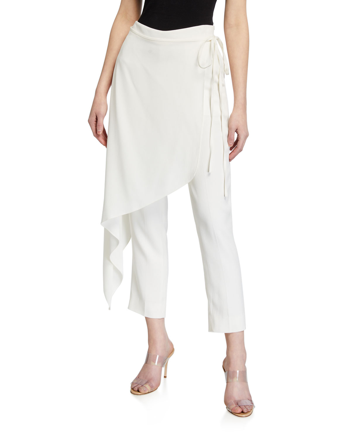 Hellessy Slim Pants with Detachable Overskirt