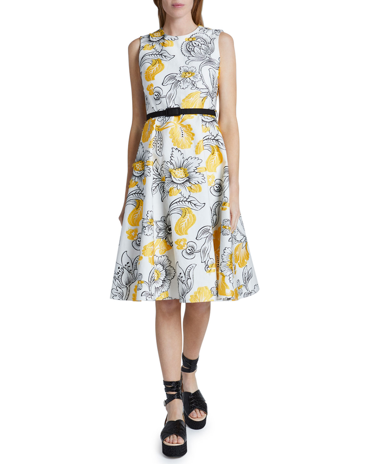 Erdem Fitted Bodice Dress
