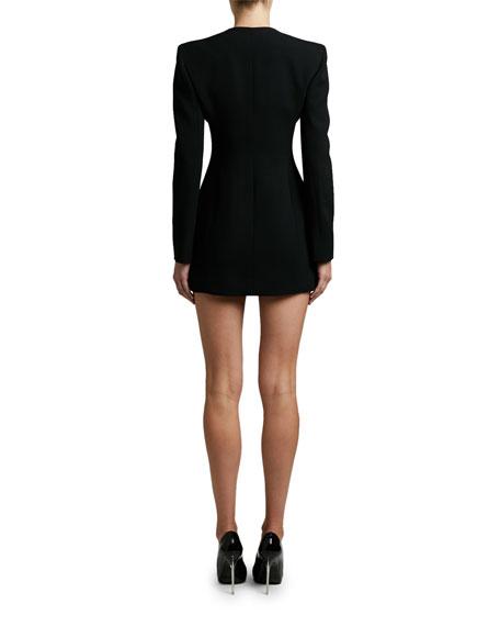 Versace Crepe Sweetheart Neck Dress