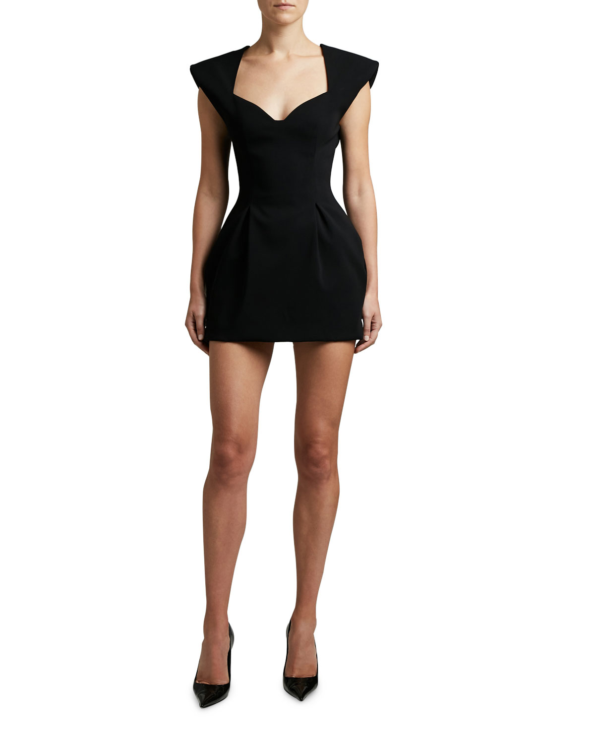 Versace Crepe Cady Sweetheart Neck Dress