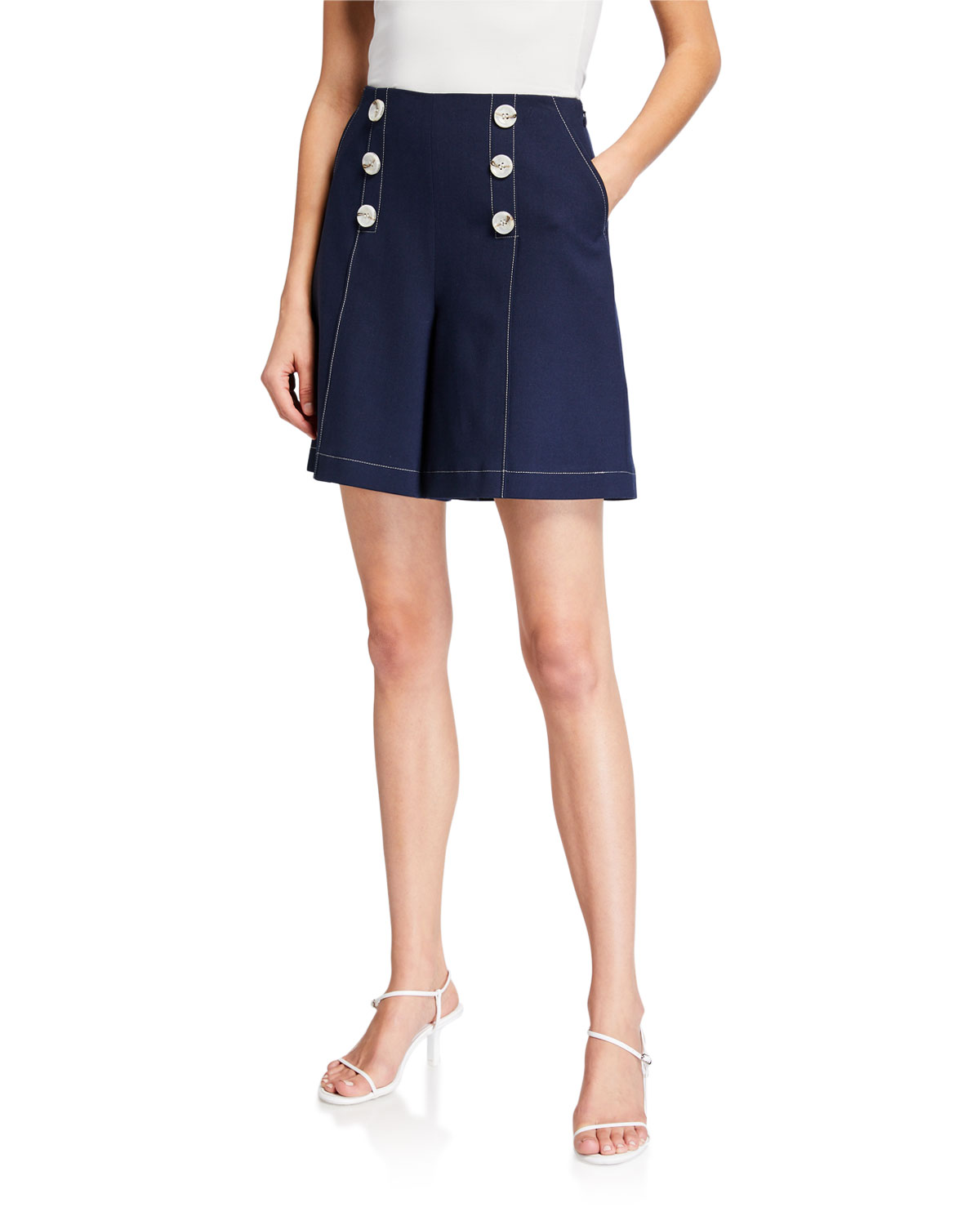 ADEAM Sailor Wide-Leg Shorts