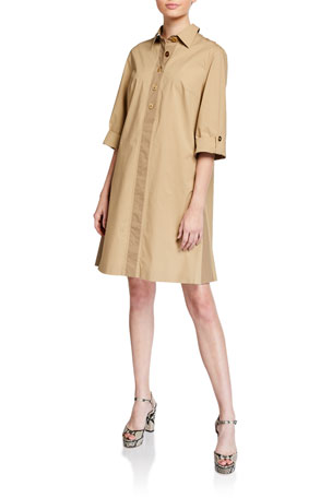 Escada Dasim Poplin Safari Shirtdress