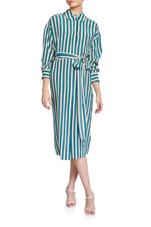 Escada Dehni Striped Shirtdress