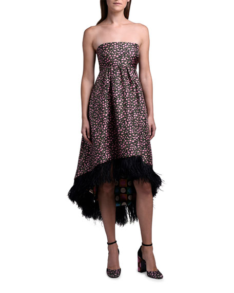 Double J La Scala Dress with Feather Hem