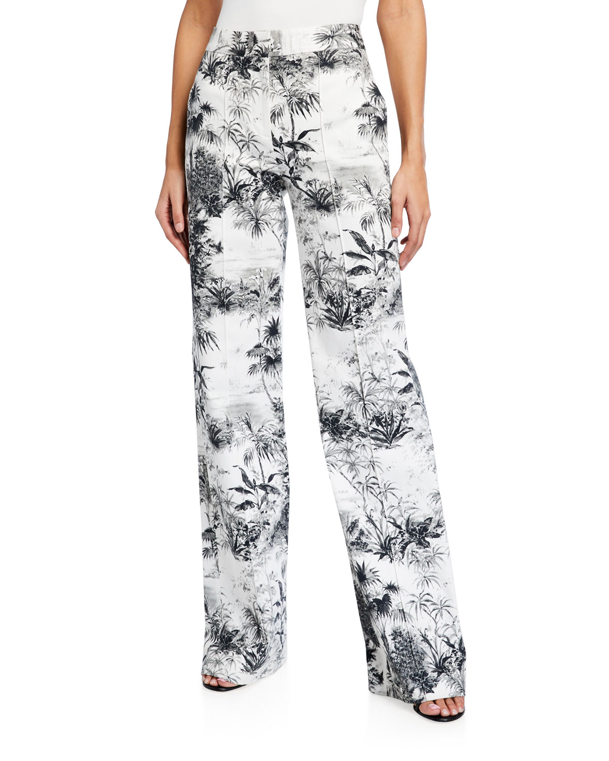 Adam Lippes Pintucked Wide Leg Trousers