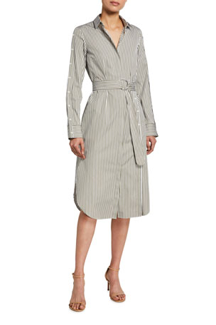 Akris punto Striped Poplin Shirtdress