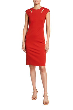 Akris punto Signature Jersey Shift Dress