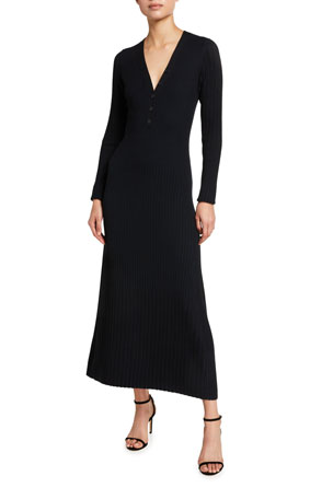 Akris punto Merino Knit Midi Sweater Dress