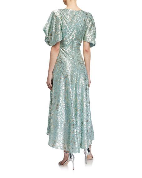 Talbot Runhof Voile Midi Dress