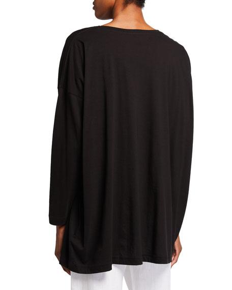 Eskandar Ultra-Light Cotton Long-Sleeve T-Shirt (One Size)