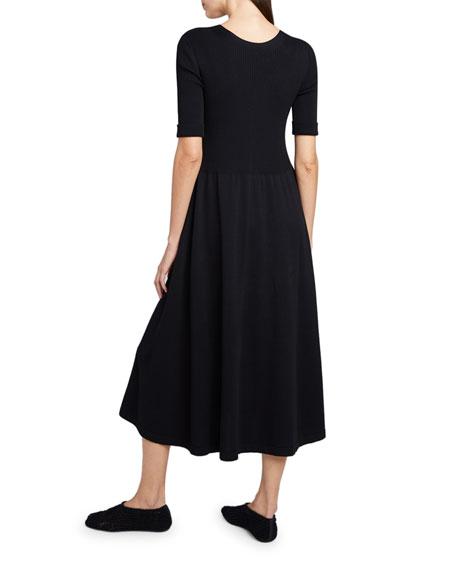 THE ROW Zakaria Jersey 3/4-Sleeve Dress