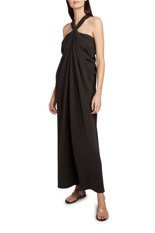 THE ROW Loon Twisted Halter-Neck Dress $1820.00