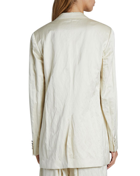 Dries Van Noten Metallic Long Blazer