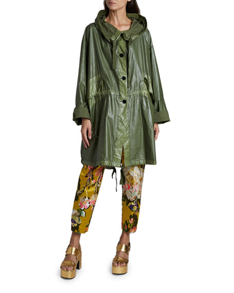 Dries Van Noten Reilly Oversized Raincoat