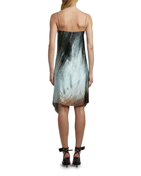 Off-White Bouroullec Spiral Satin Slip Dress