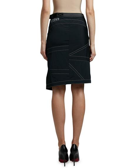 Off-White Nylon Parachute Skirt
