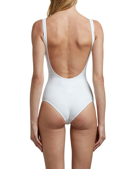 Off-White Core Low-Back One-Piece Swimsuit